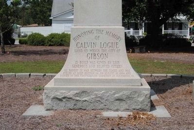 Calvin Logue Monument image. Click for full size.