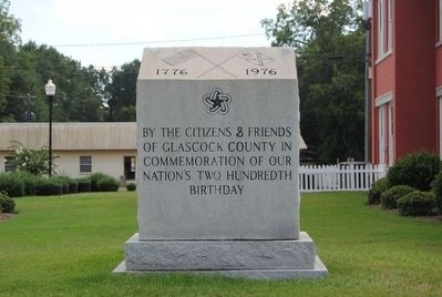 Glascock County National Bicentennial Monument image. Click for full size.