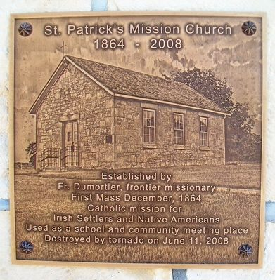 St. Patrick's Mission Church Marker image. Click for full size.