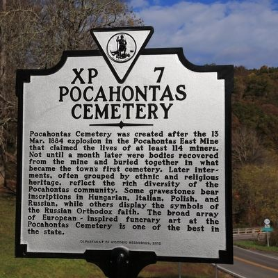 Pocahontas Cemetery Marker image. Click for full size.
