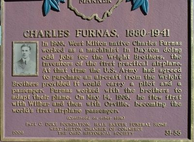 Charles Furnas 1880- 1941 Marker image. Click for full size.