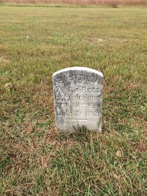 7th Georgia Marker on Henry Hill image. Click for full size.