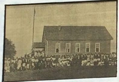 First Rosenwald School (Photo from marker) image. Click for full size.