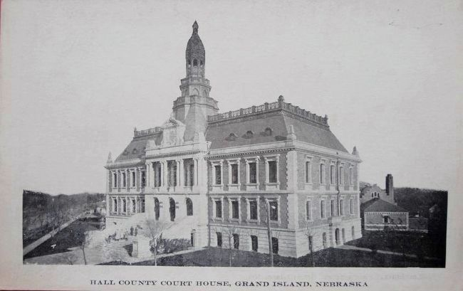 <i>Hall County Court House, Grand Isle, Nebraska</i> image. Click for full size.