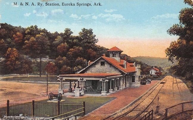 <i>M. & N.A. Ry. Station, Eureka Springs, Ark.</i> image. Click for full size.