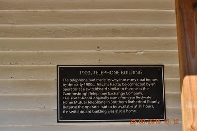 1900s Telephone Building Marker image. Click for full size.
