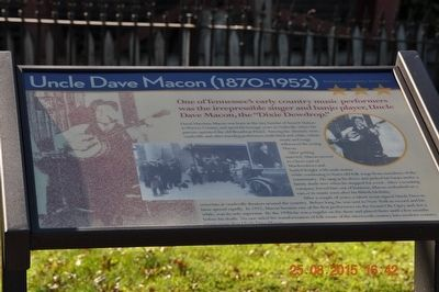 Uncle Dave Macon (1870-1952) Marker image. Click for full size.