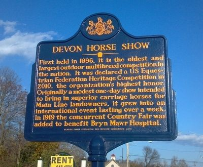 Devon Horse Show Marker image. Click for full size.