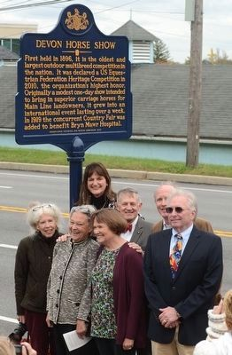 Placing of the Devon Horse Show Marker image. Click for full size.