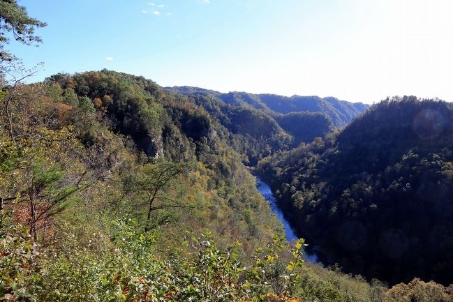 Late Afternoon View of Russell Fork Gorge from Mill Rock Point Overlook image. Click for full size.