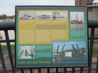 Port on Lake Ontario Marker image. Click for full size.