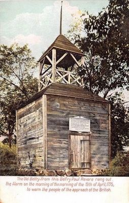 Old Belfry Prior to its Destruction and Reconstruction in 1909-10 Photo, Click for full size