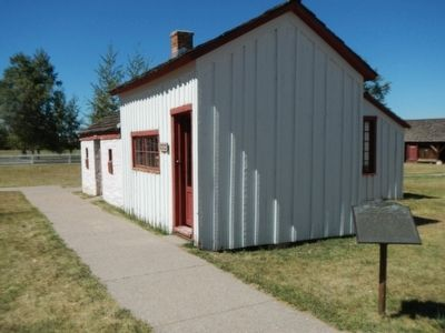 The First School House in Wyoming Marker image. Click for full size.
