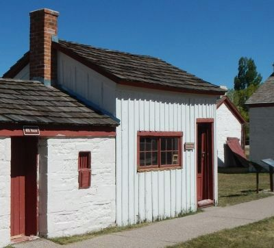 The First School House in Wyoming image. Click for full size.