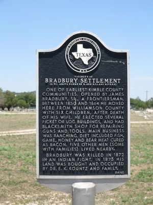 Bradbury Settlement Marker image. Click for full size.