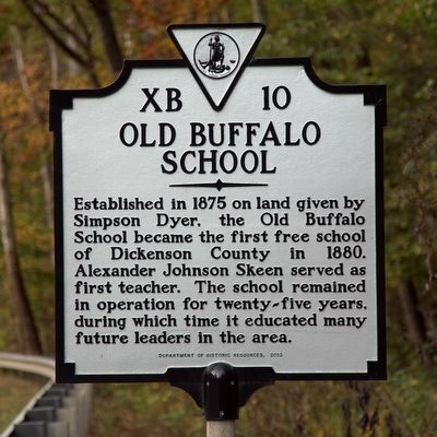 Old Buffalo School Marker image. Click for full size.