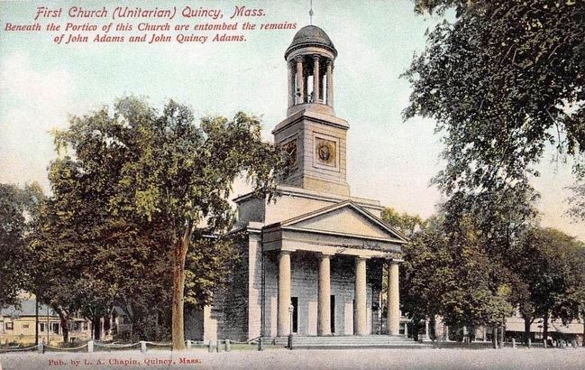 <i>First Church (Unitarian) Quincy, Mass.</i>... image. Click for full size.