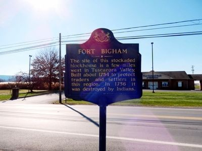 Fort Bigham Marker image. Click for full size.