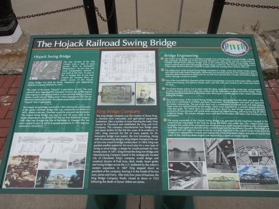The Hojack Railroad Swing Bridge Marker image. Click for full size.