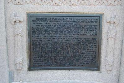 Lincoln Address Memorial<br>Right Plaque image. Click for full size.