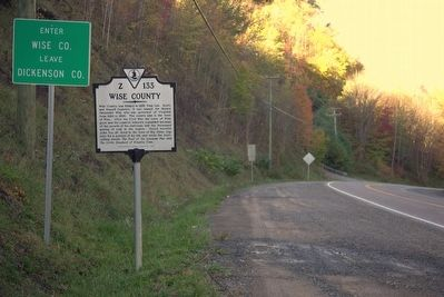 Wise County / Dickenson County Marker image. Click for full size.