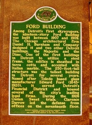 Ford Building Marker image. Click for full size.