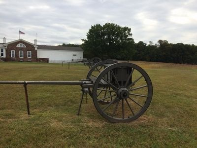 "Artillery limber near the ""Artillery Duel"" Marker image. Click for full size."