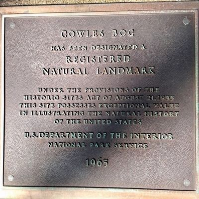Cowles Bog Marker image. Click for full size.