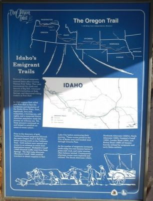 Idaho's Emigrant Trails Marker image. Click for full size.