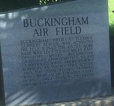 Buckingham Air Field Marker image. Click for full size.
