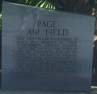 Page Air Field Marker image. Click for full size.