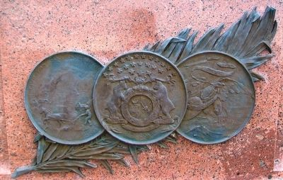 Missouri Seal on General James Shields Monument image. Click for full size.