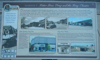 Ritter Bros. Drug and the Roxy Theatre Marker image. Click for full size.