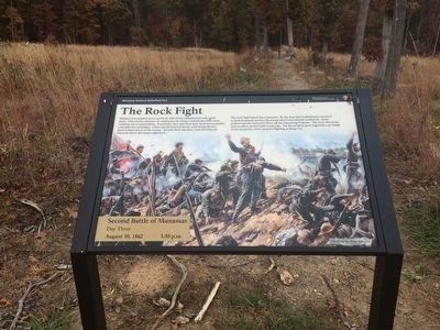 The Rock Fight Marker and Unfinished Railroad Grade image. Click for full size.