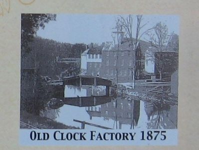 Old Clock Factory 1875 image. Click for full size.