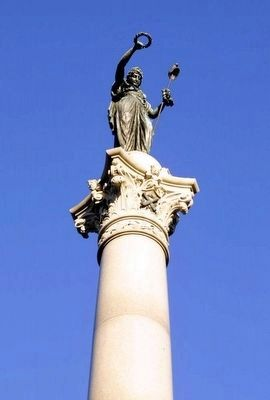 New York State Monument<br>Crowned by the Statue of New York image. Click for full size.
