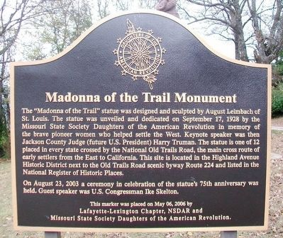 Madonna of the Trail Monument Marker image. Click for full size.