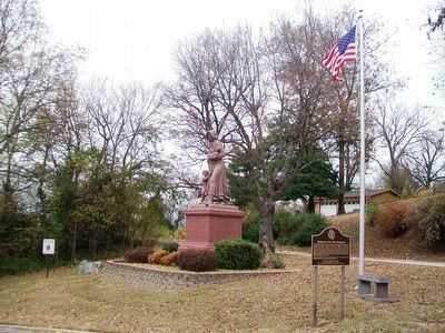 Madonna of the Trail Monument and Marker image. Click for full size.