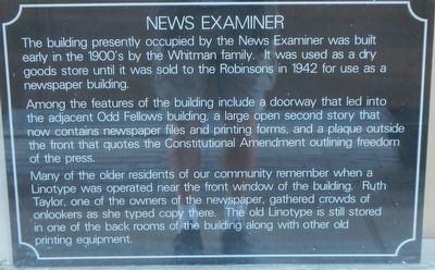 News Examiner Marker image. Click for full size.
