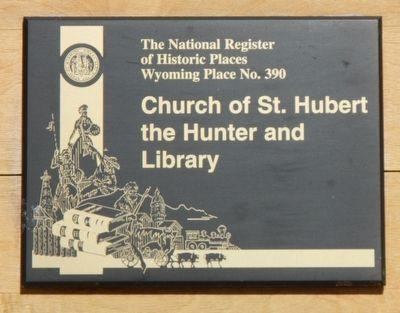 Church of St. Hubert the Hunter and Library Marker image. Click for full size.