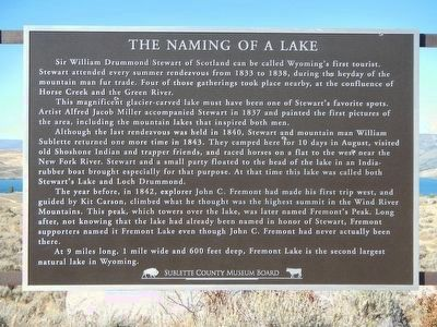 The Naming of a Lake Marker image. Click for full size.