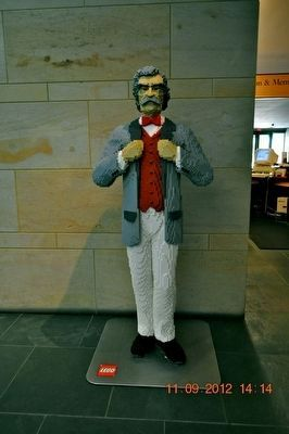 Mark Twain Lego at Visitor Center of Mark Twain's Home in Hartford, CT image. Click for full size.