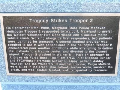 Tragedy Strikes <i>Trooper 2</i> Marker image. Click for full size.