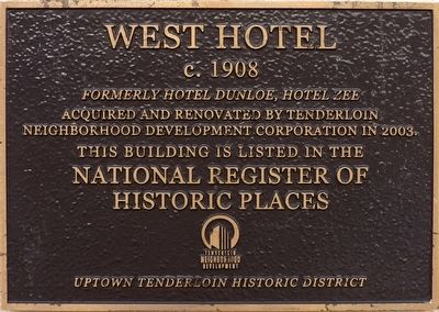 West Hotel Marker image. Click for full size.