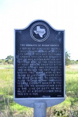 Two Sheriffs of Mason County Marker image. Click for full size.