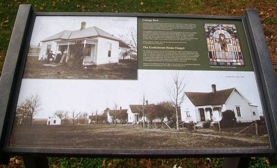 Cottage Row [and] The Confederate Home Chapel Marker image. Click for full size.