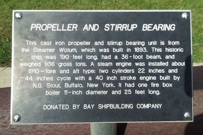 Propeller and Stirrup Bearing Marker image. Click for full size.