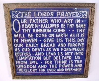 Lord's Prayer in the Confederate Home Chapel image. Click for full size.