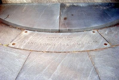 Friend to Friend Masonic Memorial Cornerstone Photo, Click for full size