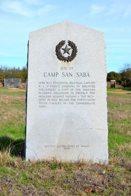 Site of Camp San Saba Marker image. Click for full size.